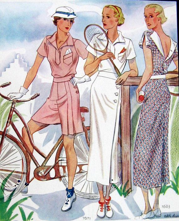 1930s Fashion Illustration