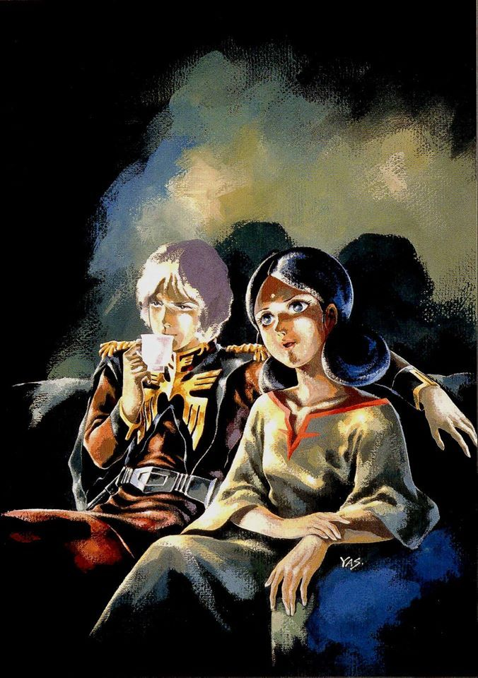 Gundam Illustration by Yas: Char and Lala, private moment