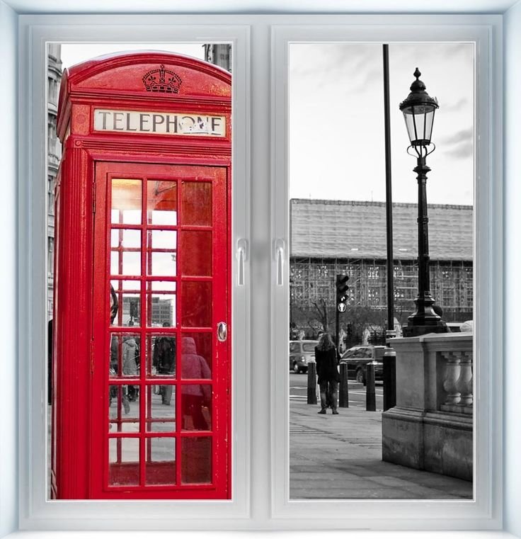 Majestic Wall Art - Traditional Red Phone Booth Instant Window, $44.00 (http://www.majesticwallart.com/instant-windows/traditional-red-phone-booth-instant-window)