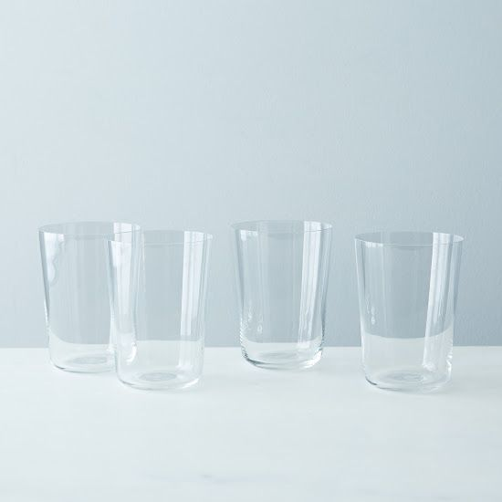 Highball Glasses (Set of 4), $68 - Aside from wine glasses, we consider Highball Glasses the most important glassware for any home bar because of how basic and versatile they are. These particular ones are the best of the best -- made in Italy out of crystal glass.