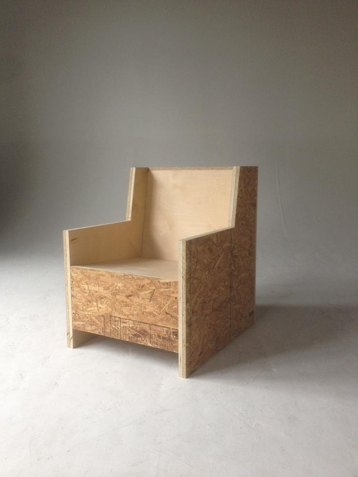 OSB + Plywood Club Chair, designed by Steffen Ringelmann of White & Wool / www.whiteandwool.com