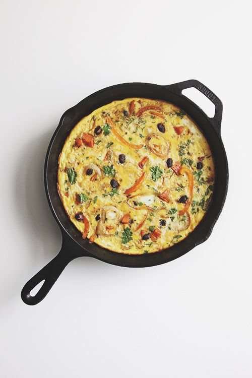 Mexican Frittata.  Pair with your favorite salsa or hot sauce for a yummy breakfast treat!