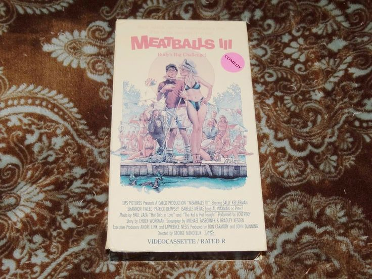 Meatballs III/3 (VHS, 1991) Rare OOP 1st SP IVE! Shannon Tweed T&A! *NOT ON DVD*