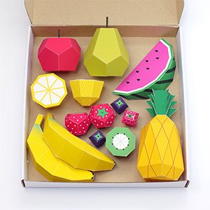 Papercraft Fruit! These would be double the levels of awesome if turned into scratch and sniff.