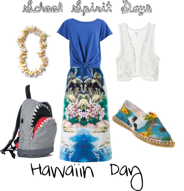 School Spirit Days...Hawaiin Day, created by peetalover55 on Polyvore