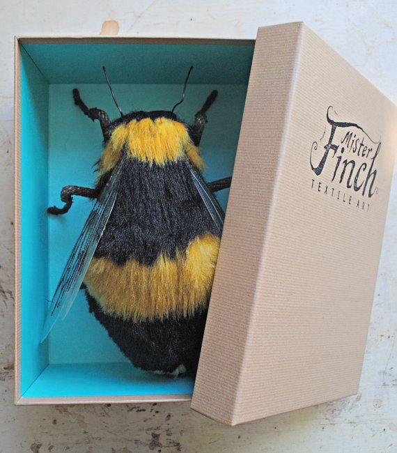 Very Large Textile BumbleBee Textile Soft by MisterFinch on Etsy