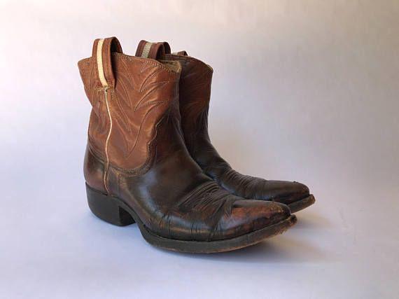 men's 9 1/2 Medium brown FLORSHEIM IMPERIAL calf leather Chelsea boots zip shoes