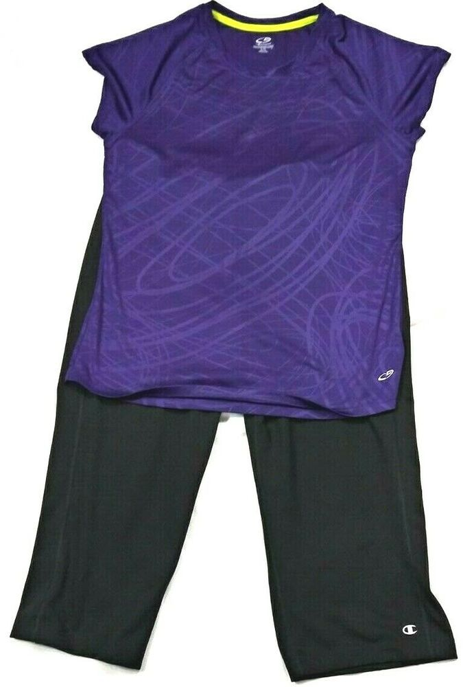 30b2da0968bebf Champion Womens Athletic Double Dry Capris and Semi Fitted Top Size XLARGE  #Champion #Activewear