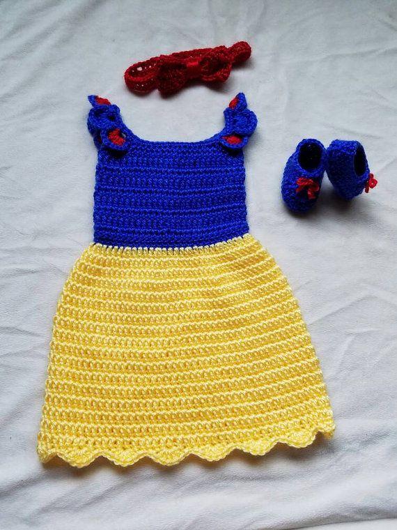 crochet Disney's Snow White inspired princess dress sizes