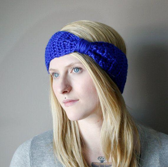 Fall Fashion . Bow Head Band . Crochet Headband . by FallCode, $16.00