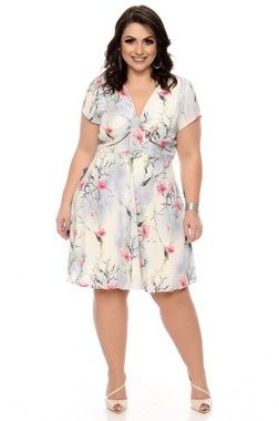 2a4ce5823 Vestido Linho Plus Size Driman
