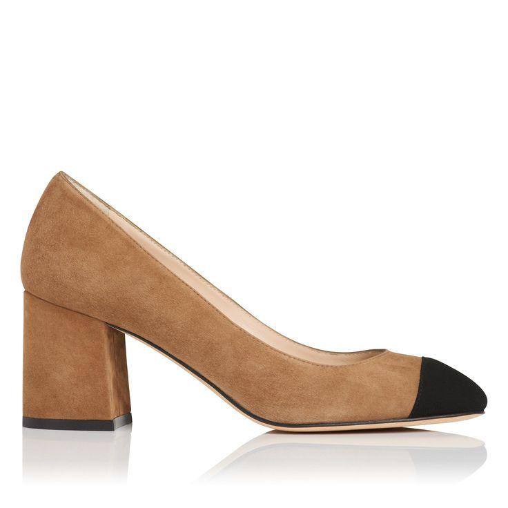 Francesca Brown Suede Court Shoes | Shoes | L.K.Bennett