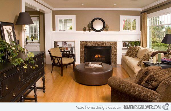 De 25 bedste id er inden for earth tones p pinterest for Earthy living room designs