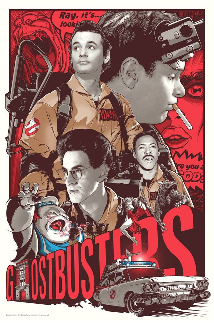 Gallery 1988 is holding a series of Ghostbusters art shows to commemorate the film's 30th Anniversary. It's a traveling art show that will go to New York, Los Angeles, Chicago, and San Diego. The two illustrations you see here will be a part of the show. The one above was created by Joshua Budich