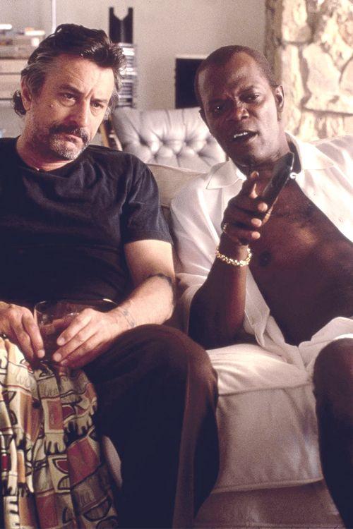 Robert De Niro y Samuel L. Jackson en 'Jackie Brown', dirigida por Quentin Tarantino (1997)