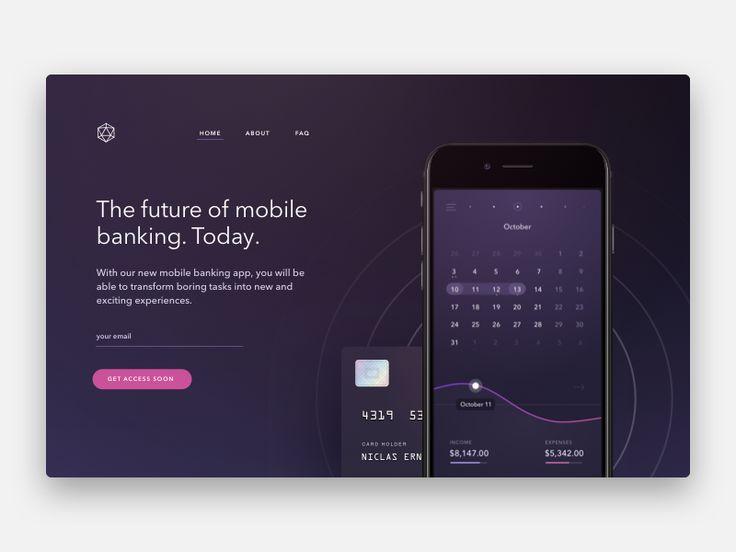 Banking App Landing Page