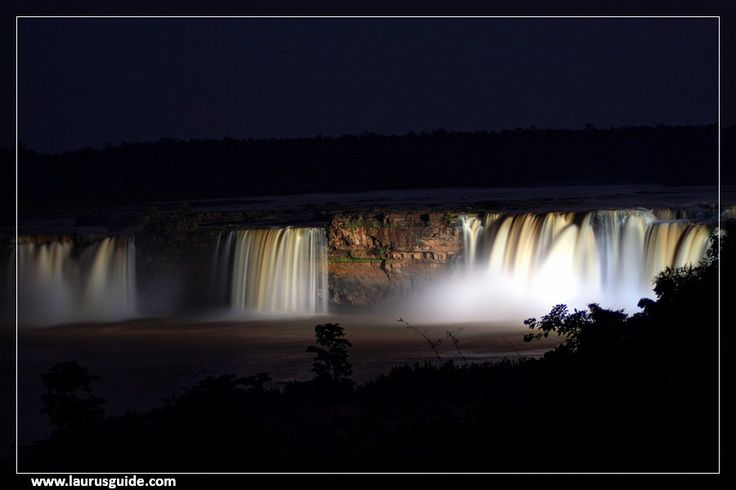 The Chitrakoot Falls is a natural waterfall located to the west of Jagdalpur, in Bastar district in the Indian state of Chhattisgarh on the Indravati River. It is located at a distance of 38 kilometres (24 mi) to the west of Jagdalpur.  The height of the falls is about 29 metres (95 ft). It is the widest fall in India, Because of its width and wide spread during the monsoon season, it is often called the Niagara Falls of India.