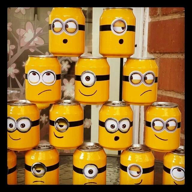 Diy Minions decor soda can