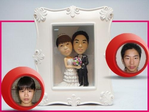 Wedding Frame Cake Topper  Personalized Bride and by Miniyouvn, $170.00