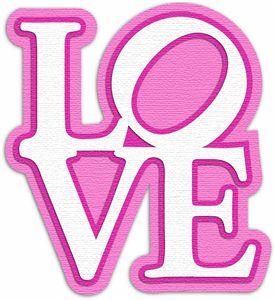 Silhouette Design Store - View Design #5735: love stacked