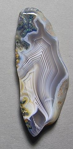 Botswana agate - pretty colors! I want to buy bookends like these!