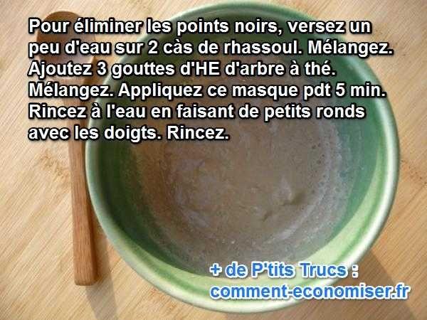 """Le rhassoul est une argile marocaine signifiant """"matière qui lave"""" et il fait des miracles. C'est bien simple, je ne peux plus m'en passer. Voici donc ma recette de masque gommage anti-point noirs au rhassoul pour rendre à notre épiderme sa pureté et sa fraîcheur.  Découvrez l'astuce ici : http://www.comment-economiser.fr/points-noirs-rassoul.html?utm_content=buffer7e9a0&utm_medium=social&utm_source=pinterest.com&utm_campaign=buffer"""