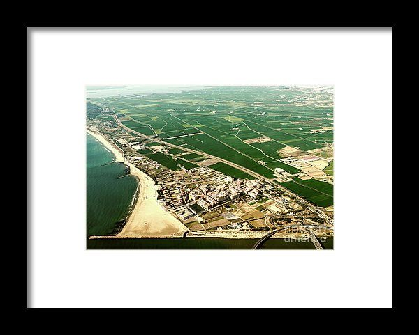 Aerial Photo Of Earth Horizon Framed Print