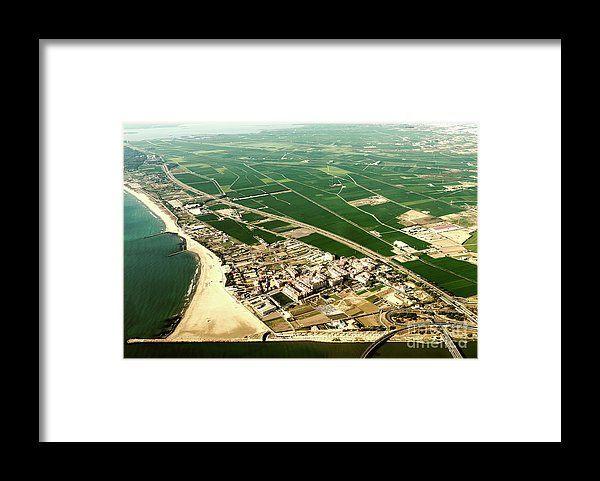 Aerial Photo Of Earth Horizon Framed Print