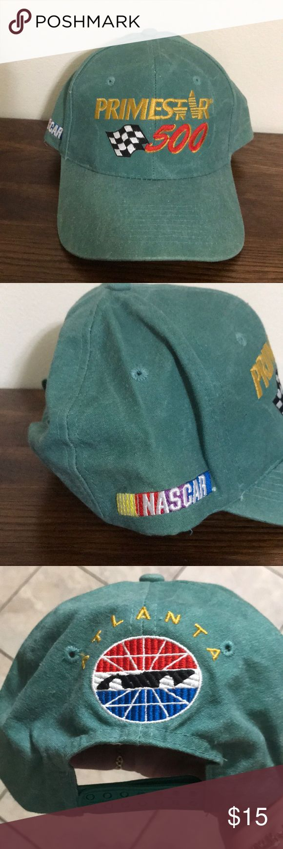PRIMESTAR 500 ATLANTA NASCAR HAT ONE SIZE Love the colors of this hat, never worn just displayed. My husband collected hats but never wore them. Time for them to go! COBRA CARS Accessories Hats