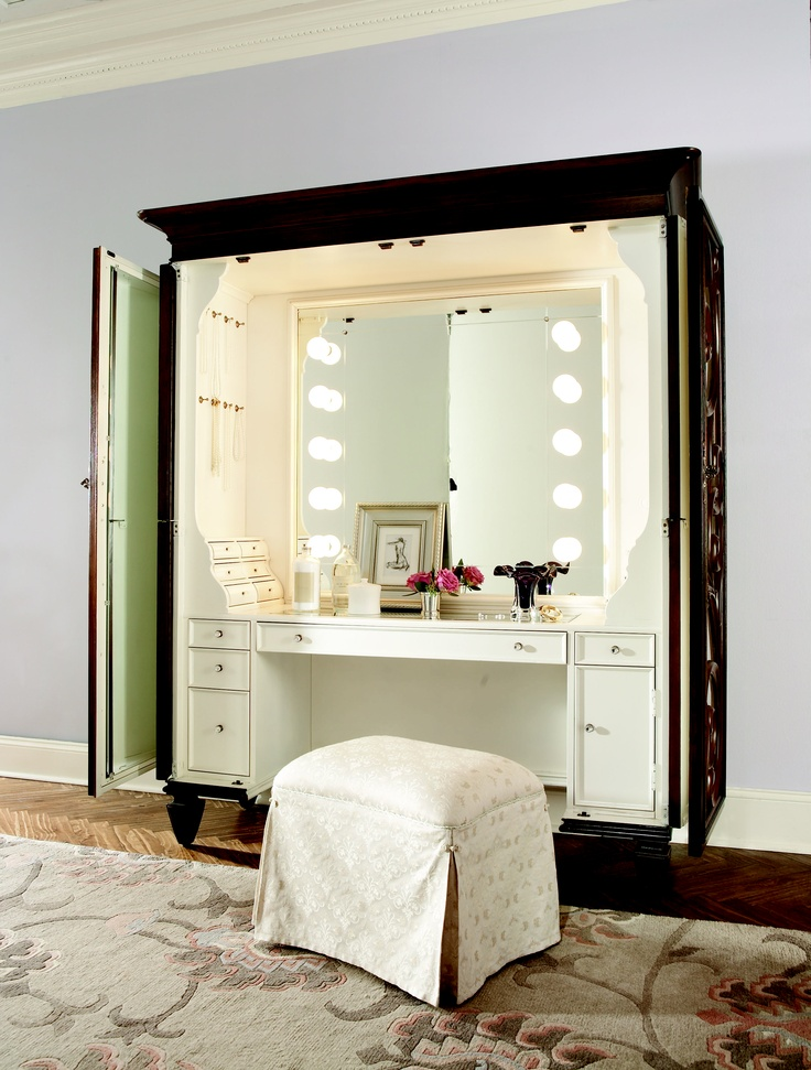 Jessica McClintock Collection   DRESSING ARMOIRE #armoire  #jessicamcclintock #americandrew #furniture #bedroom