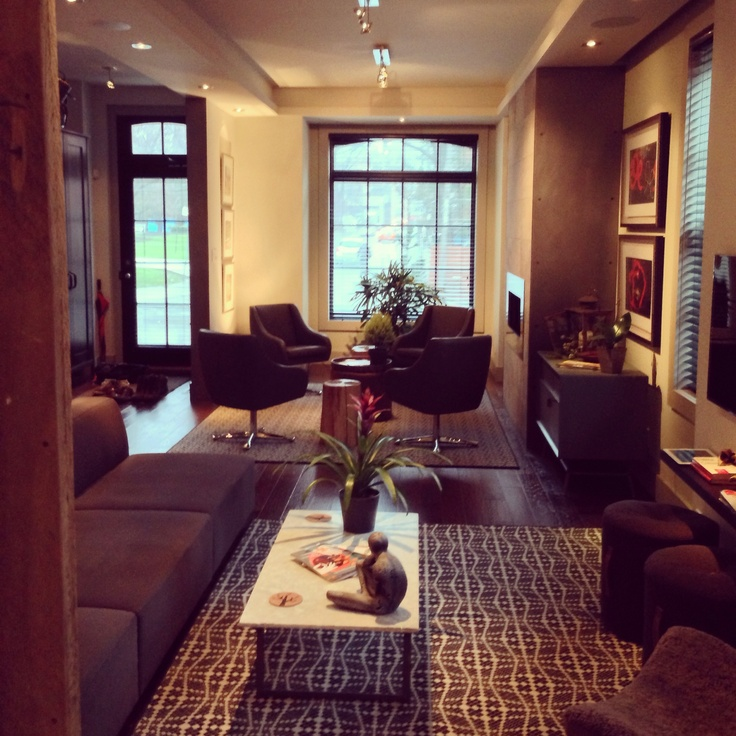 Foyer Seating Area Ideas : Clients live work house front living room and seating