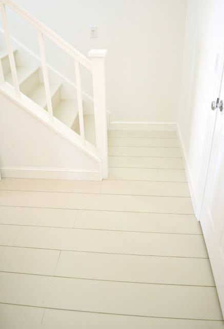 wide plank plywood floors that cost    45 cents a square foot.: Scrapbook Room, Painting Plywood Floors, Plywood Floors Painting, Painting Wood Floors, Farmhouse Design, Planks Floors, Farmhouse Floors Painting, Frugal Farmhouse, Plywood Planks