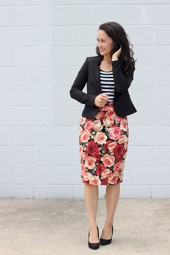 Pleated Pencil Skirt PDF Pattern by DeliaCreatesPatterns on Etsy