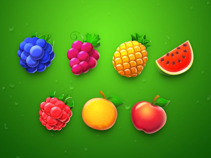 Fruit Icons by weirdsgn.com