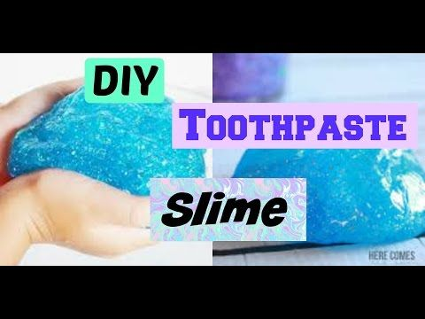 DIY toothpaste slime! | No borax, detergent, liquid starch, or eye drops - YouTube