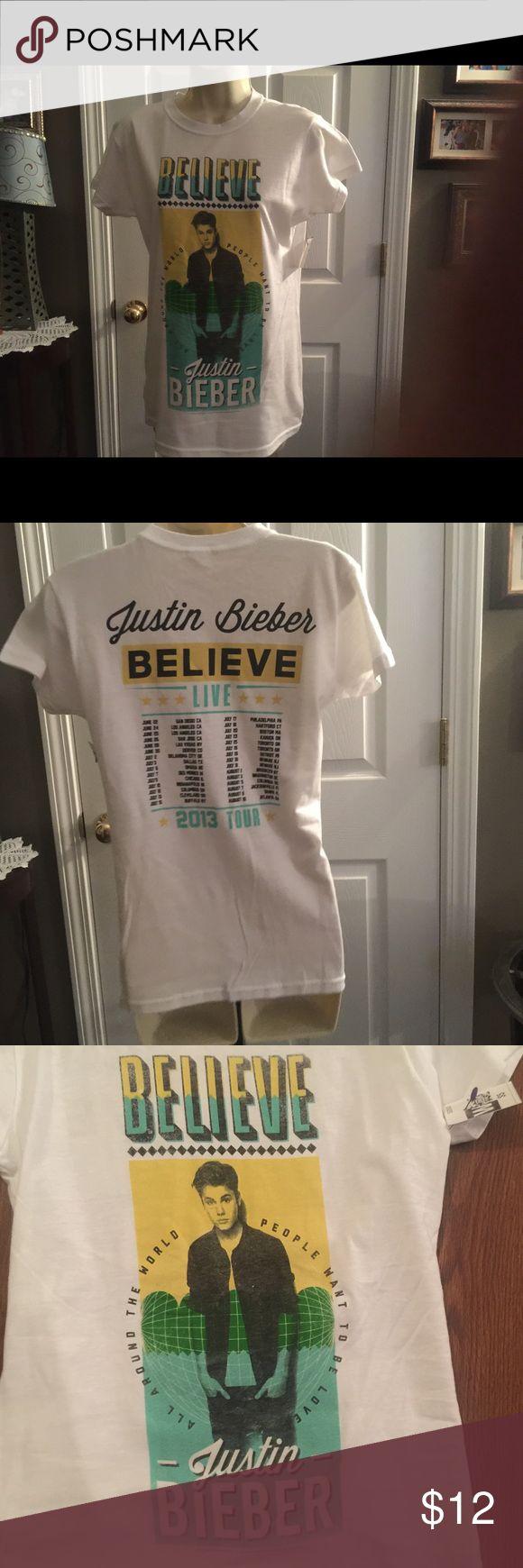 Women's fit Justin Beiber Believe Tour Shirt Medium Justin Beiber Believe 2013 tour shirt .  Women's fit. Tops Tees - Short Sleeve