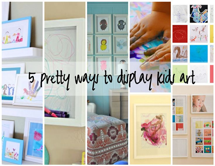 5 ways to display kids' art