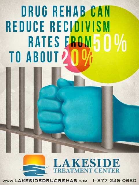 Drug rehab reduces the rate of recidivism by half. This statistic ...