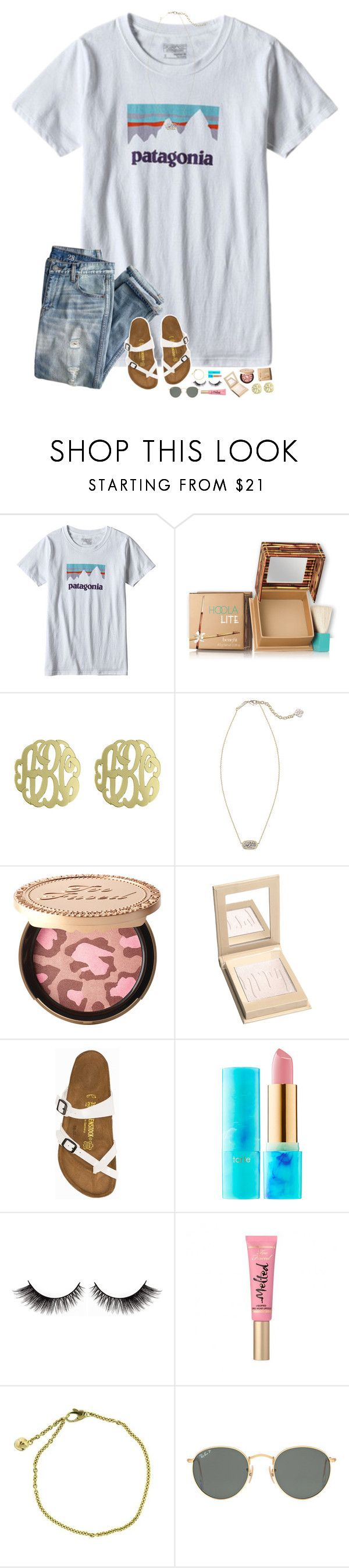 """probably getting braces today......"" by hopemarlee ❤ liked on Polyvore featuring Patagonia, J.Crew, Hoola, Initial Reaction, Kendra Scott, Too Faced Cosmetics, Birkenstock, tarte, Cartier and Ray-Ban"