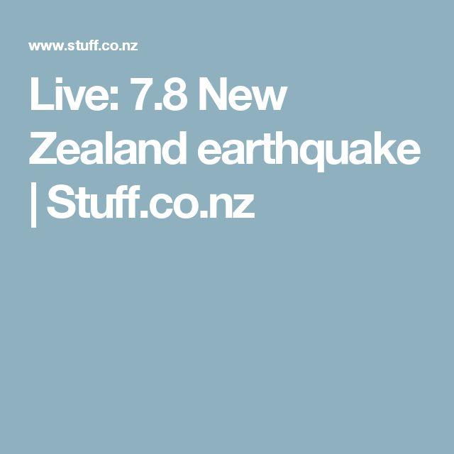 Live: 7.8 New Zealand earthquake | Stuff.co.nz