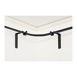 RÄCKA Curtain rod corner connector - black - IKEA | I don't need this now but good to know they have them
