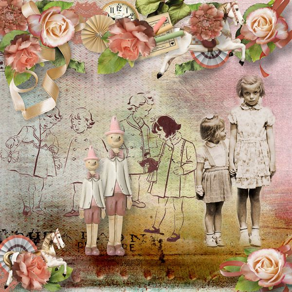"""""""Back To The Childhood Years"""" by Ilonka Scrapbook Designs"""