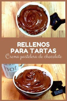 Rellenos para tartas: crema pastelera de chocolate