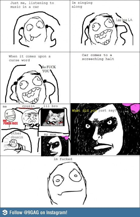 Listening to music funny rage comic | Funny weird viral pics