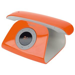 Avis Téléphone sans fil Logicom Rétro Orange
