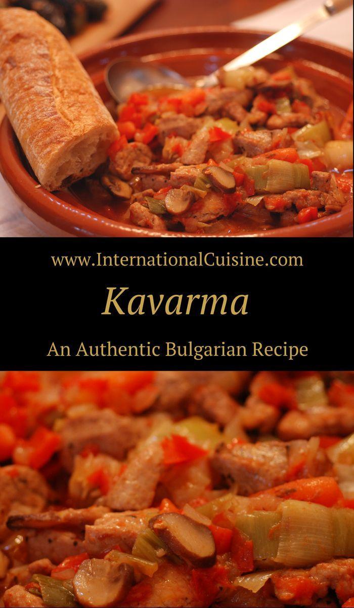 Kavarma Bulgarian Pork And Vegetable Stew Recipe Bulgarian Recipes European Dishes Recipes
