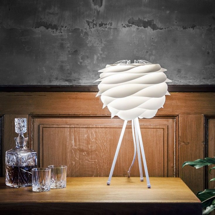 The Vita Carmina mini lamp shade in crisp white is designed in reference to  the soft waves of the slow moving ...