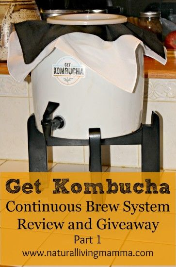 GetKombucha Giveaway - Come enter to #win this wonderful Kombucha Continuous Brew system from GetKombucha! #getkombucha Includes a porcelain brewer, wood stand, a SCOBY so you can brew your own Kombucha, spigots, covers, ph strips, muslin tea bags, brewing gloves and more! -Natural Living Mamma
