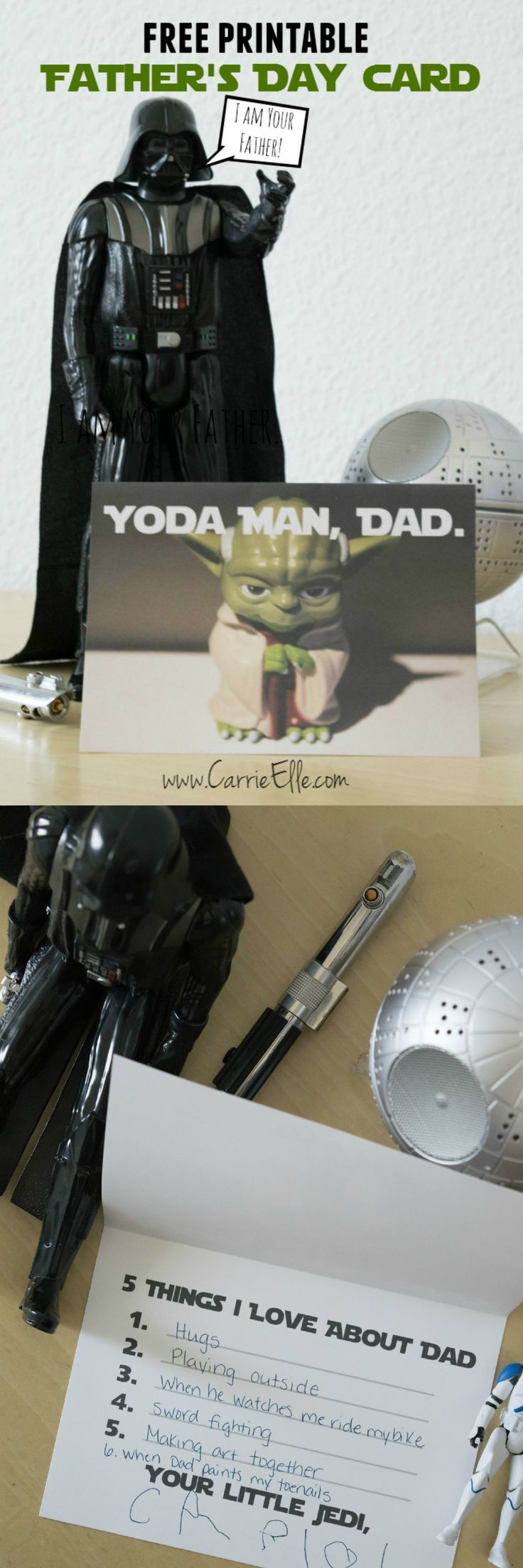 Free printable Father's Day cards, Star Wars style! This is SO fun!