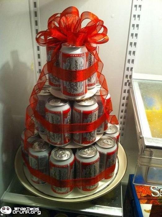 valentine beer cake